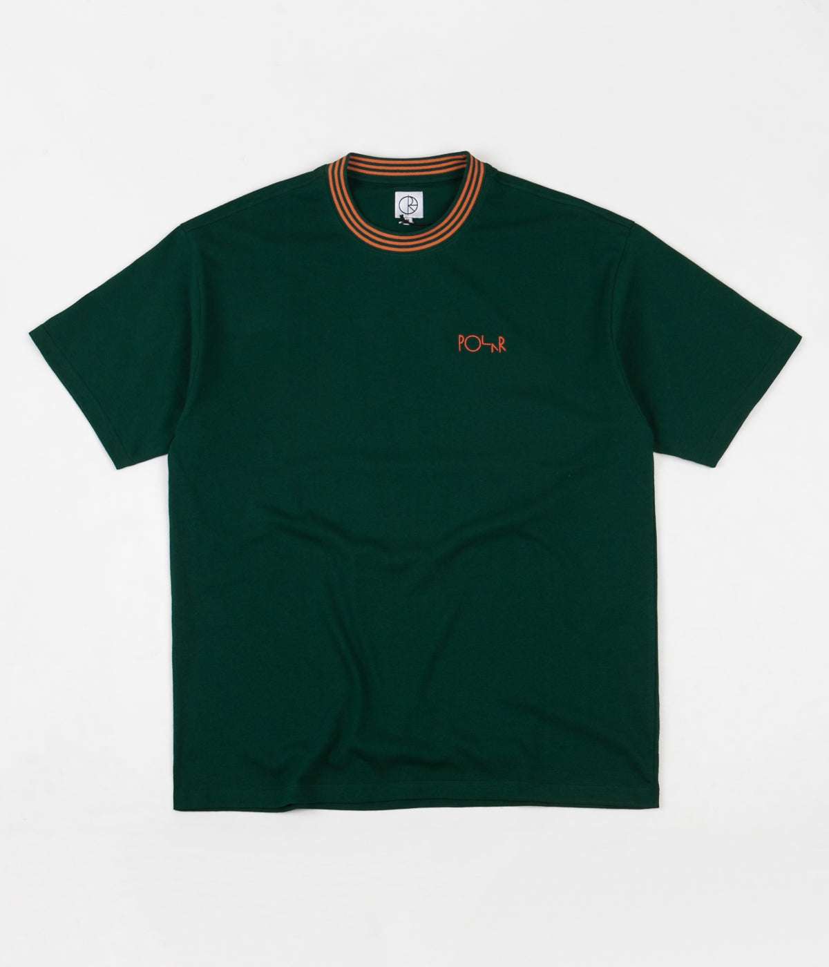Polar Striped Rib T-Shirt - Dark Green