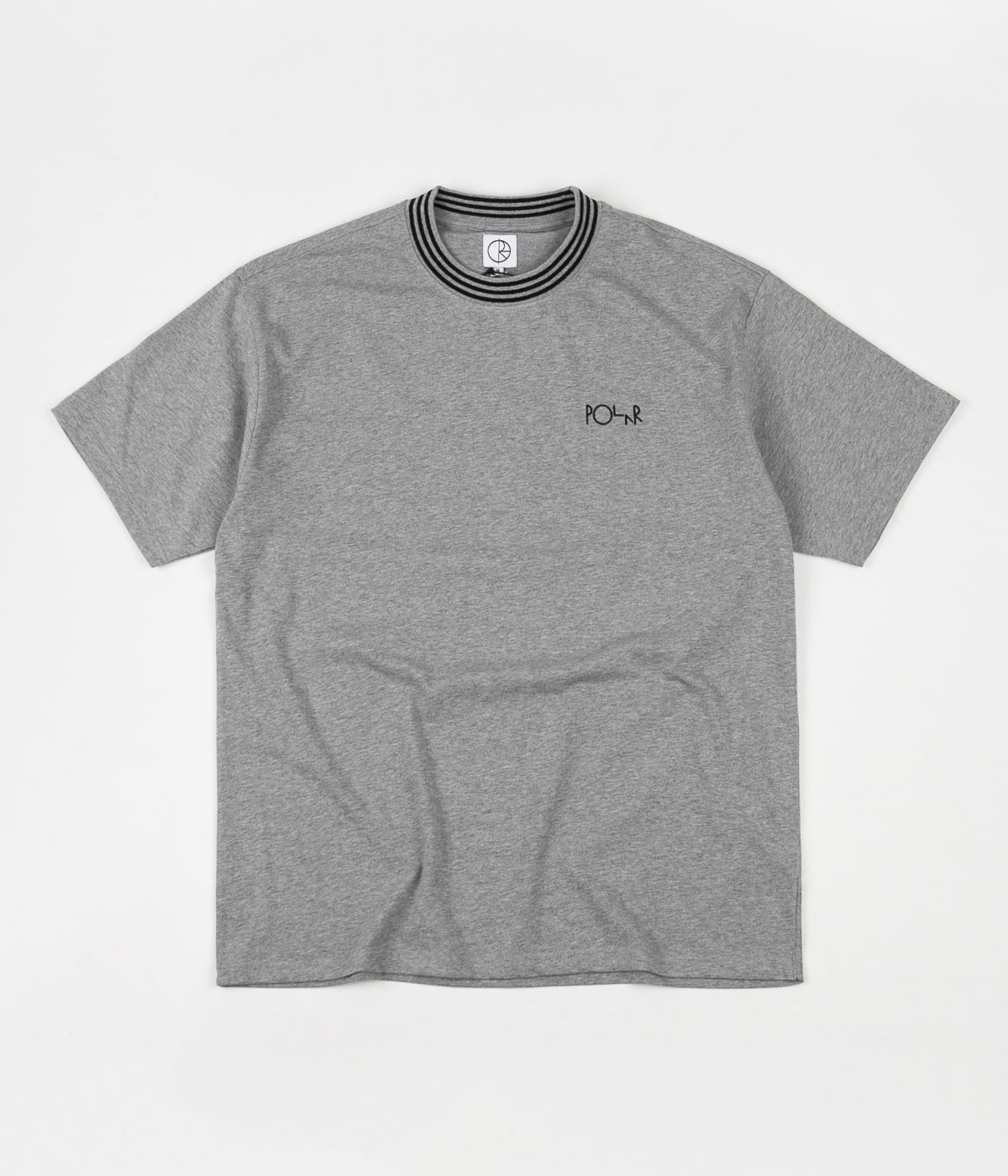 Polar Striped Rib T-Shirt - Heather Grey