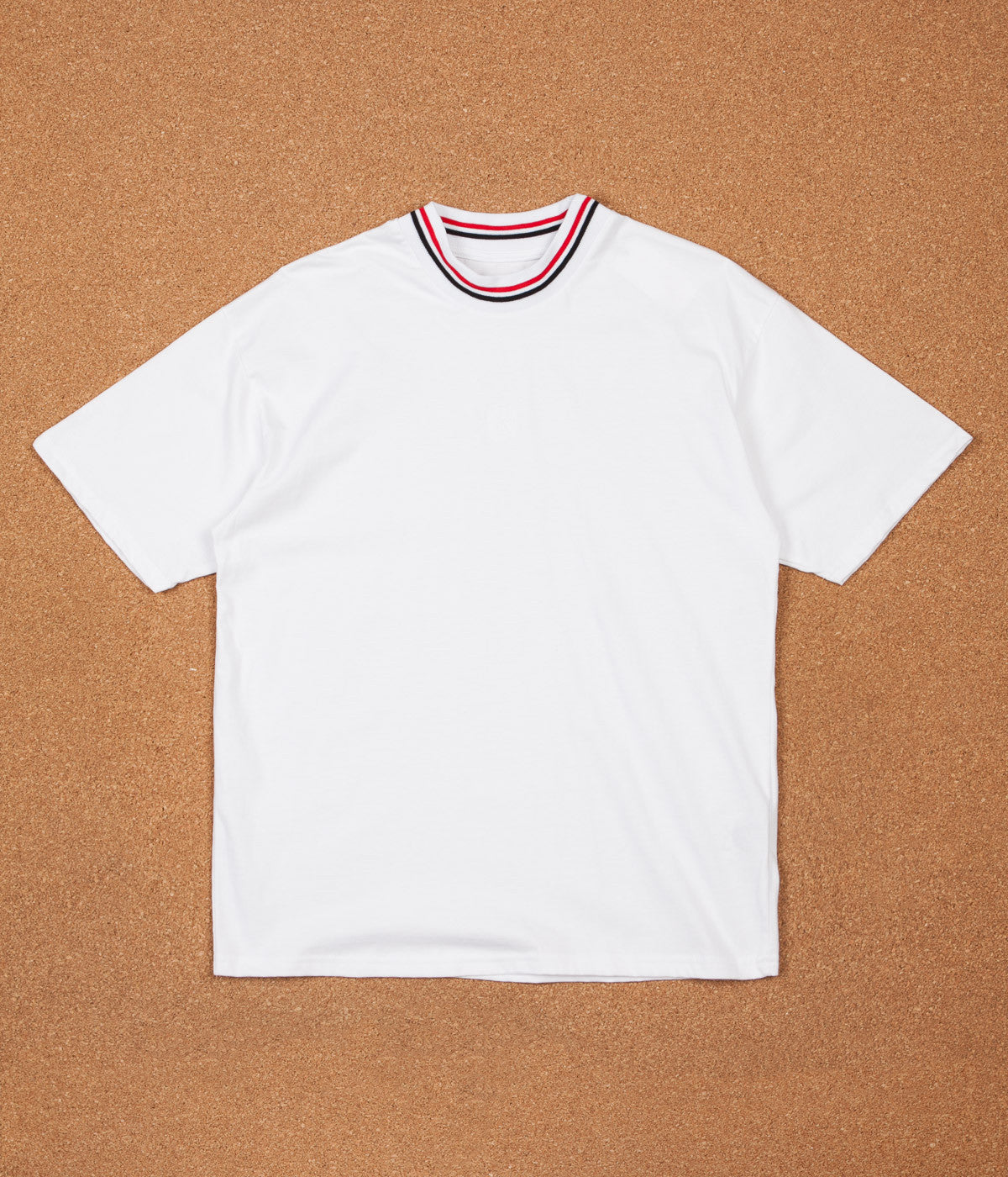 Polar Striped Rib T-Shirt - White