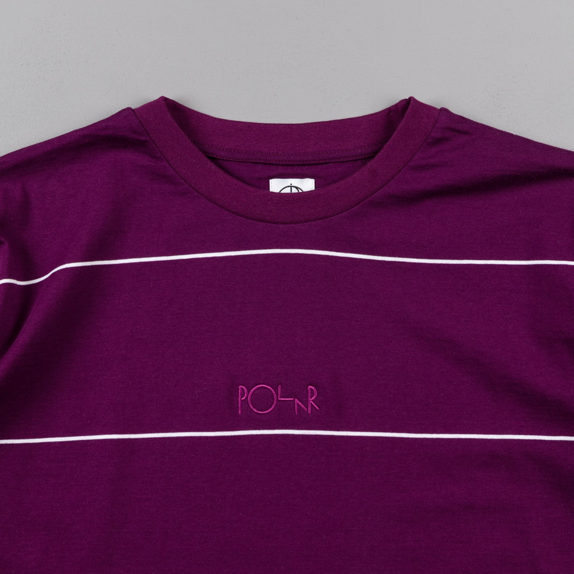 Polar Striped T-Shirt - Dark Prune