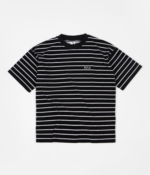 Polar Striped Terry Surf T-Shirt - Black / Light Grey