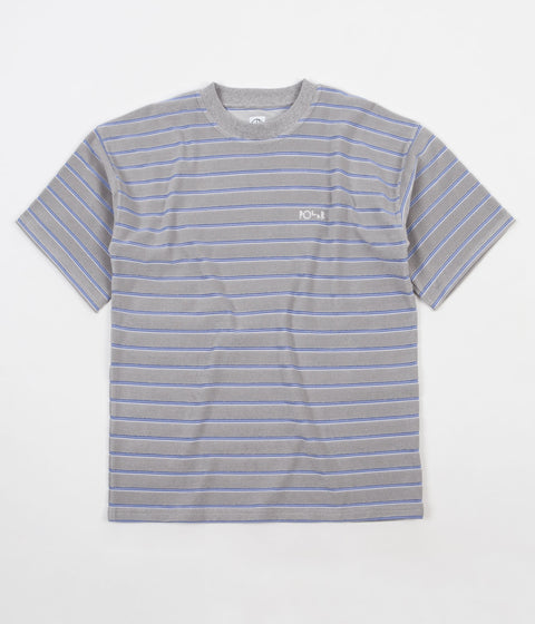Polar Striped Terry Surf T-Shirt - Light Grey / Blue