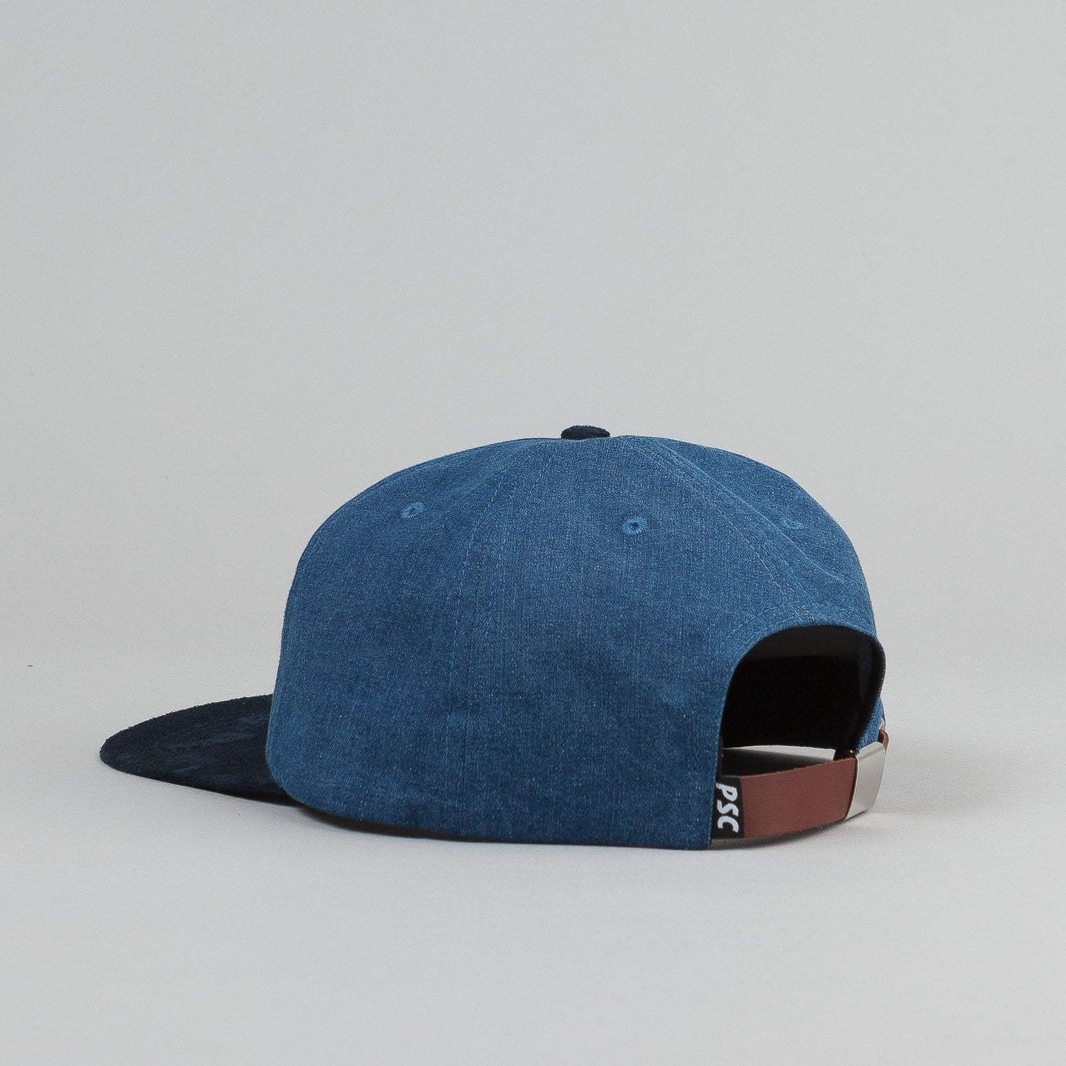 Polar Stroke Logo 6 Panel Cap - Blue Denim / Navy Suede Brim