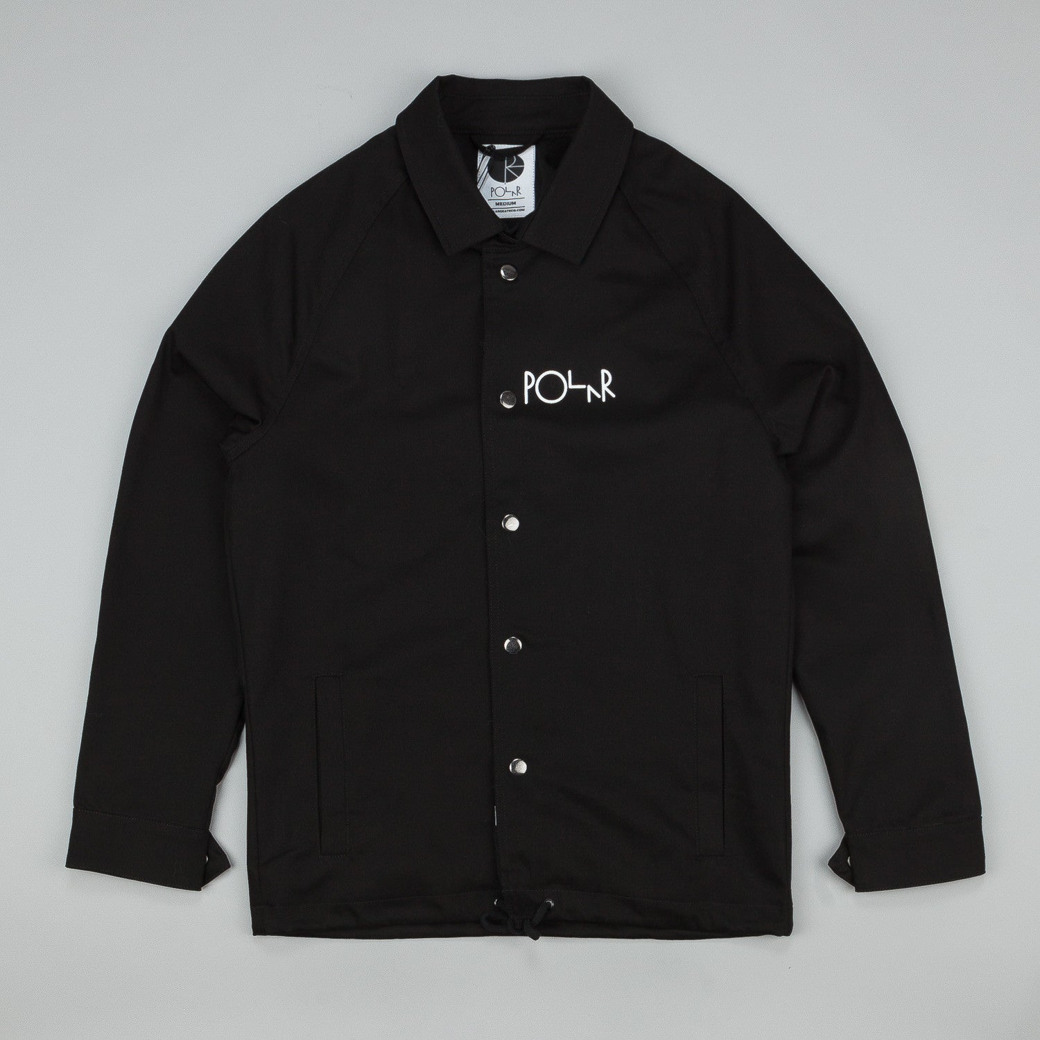 Polar Stroke Logo Coach Jacket Black