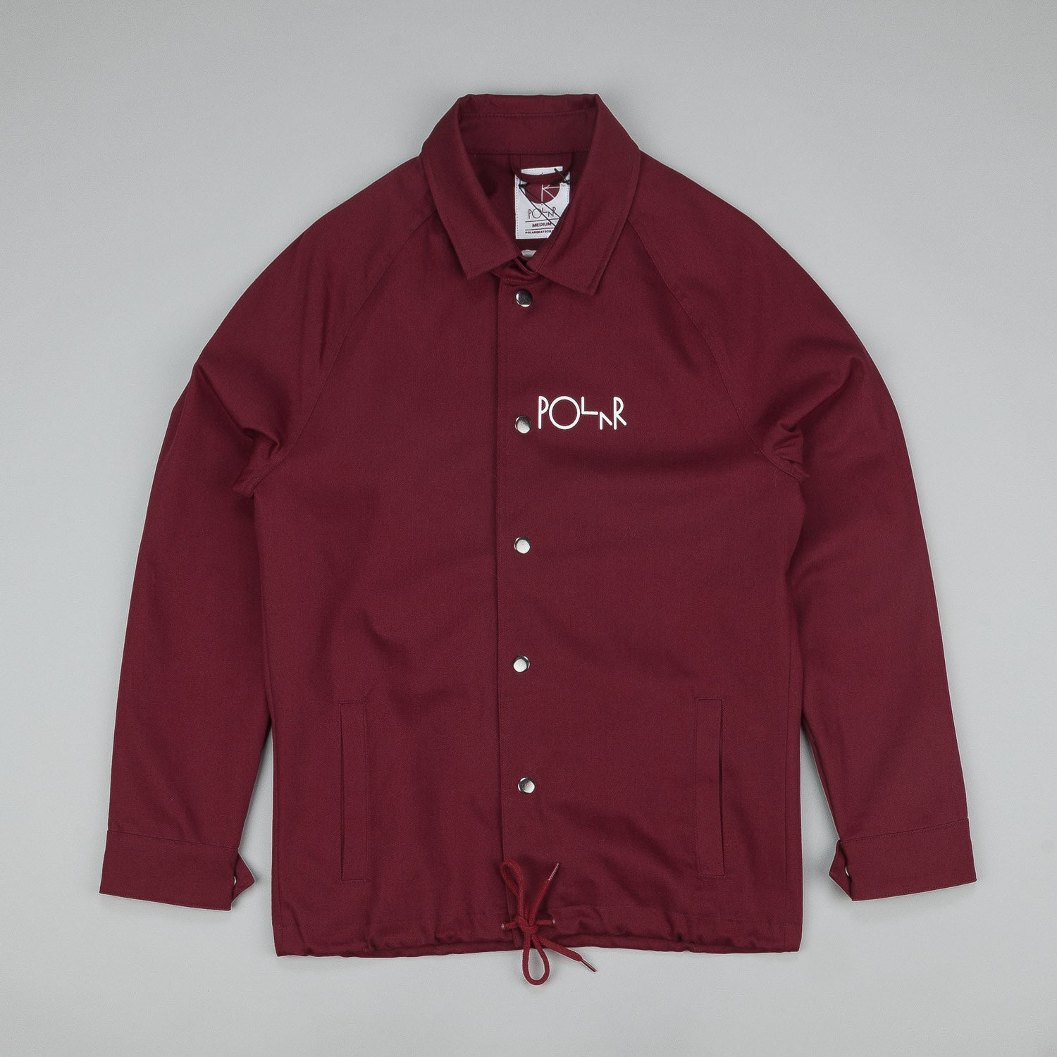 Polar Stroke Logo Coach Jacket Burgundy