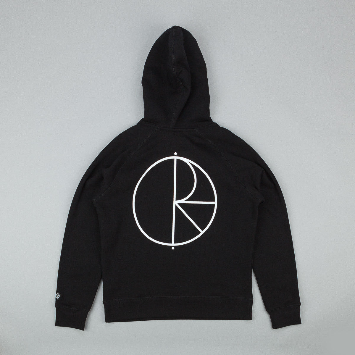 Polar Stroke Logo Hooded Sweatshirt - Black / White