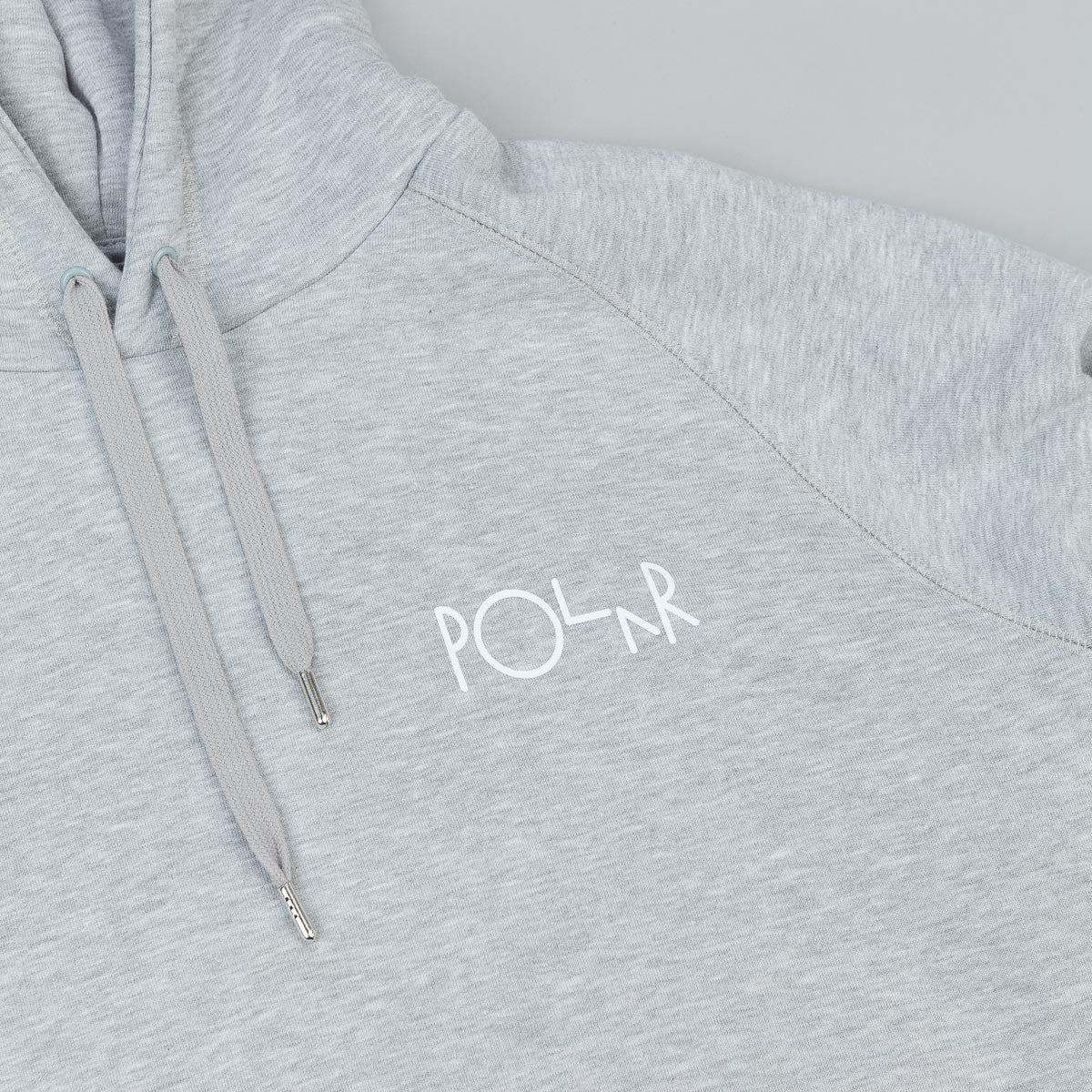 Polar Stroke Logo Hooded Sweatshirt - Grey Heather / Black