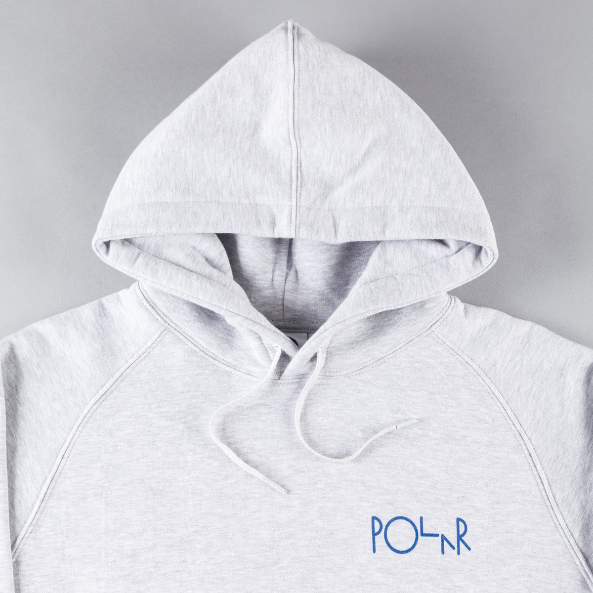 Polar Stroke Logo Hooded Sweatshirt - Heather Grey