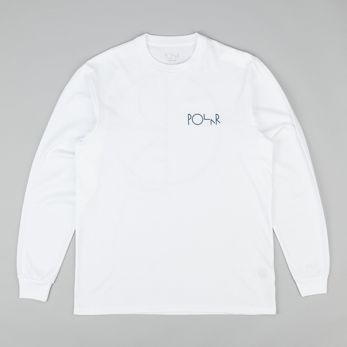 Polar Stroke Logo Long Sleeve T-Shirt - White