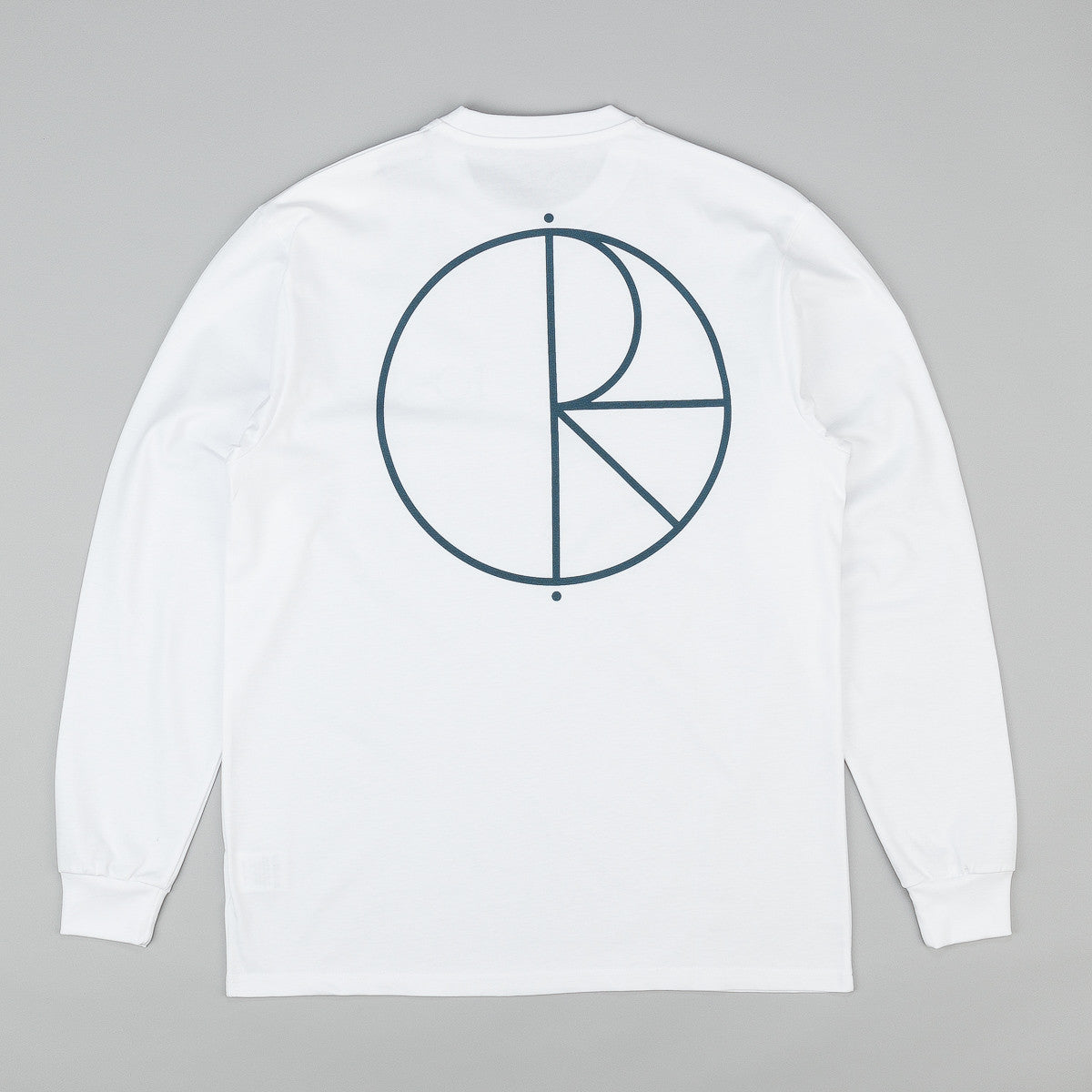 Polar Stroke Logo Long Sleeve T-Shirt - White / Pastel Blue