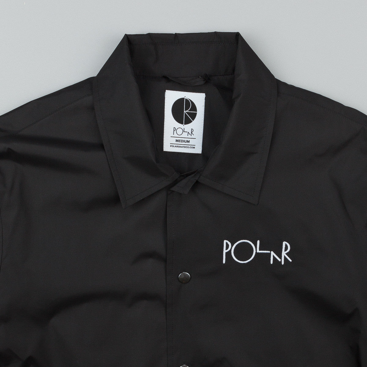 Polar Stroke Logo Patch Coach Jacket - Black
