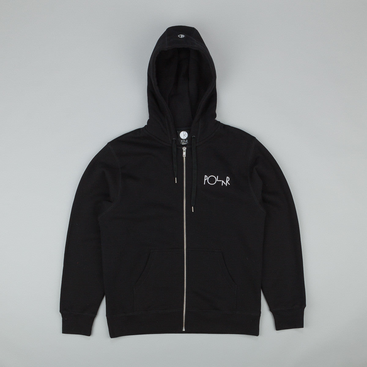 Polar Stroke Logo Patch Zip Hooded Sweatshirt