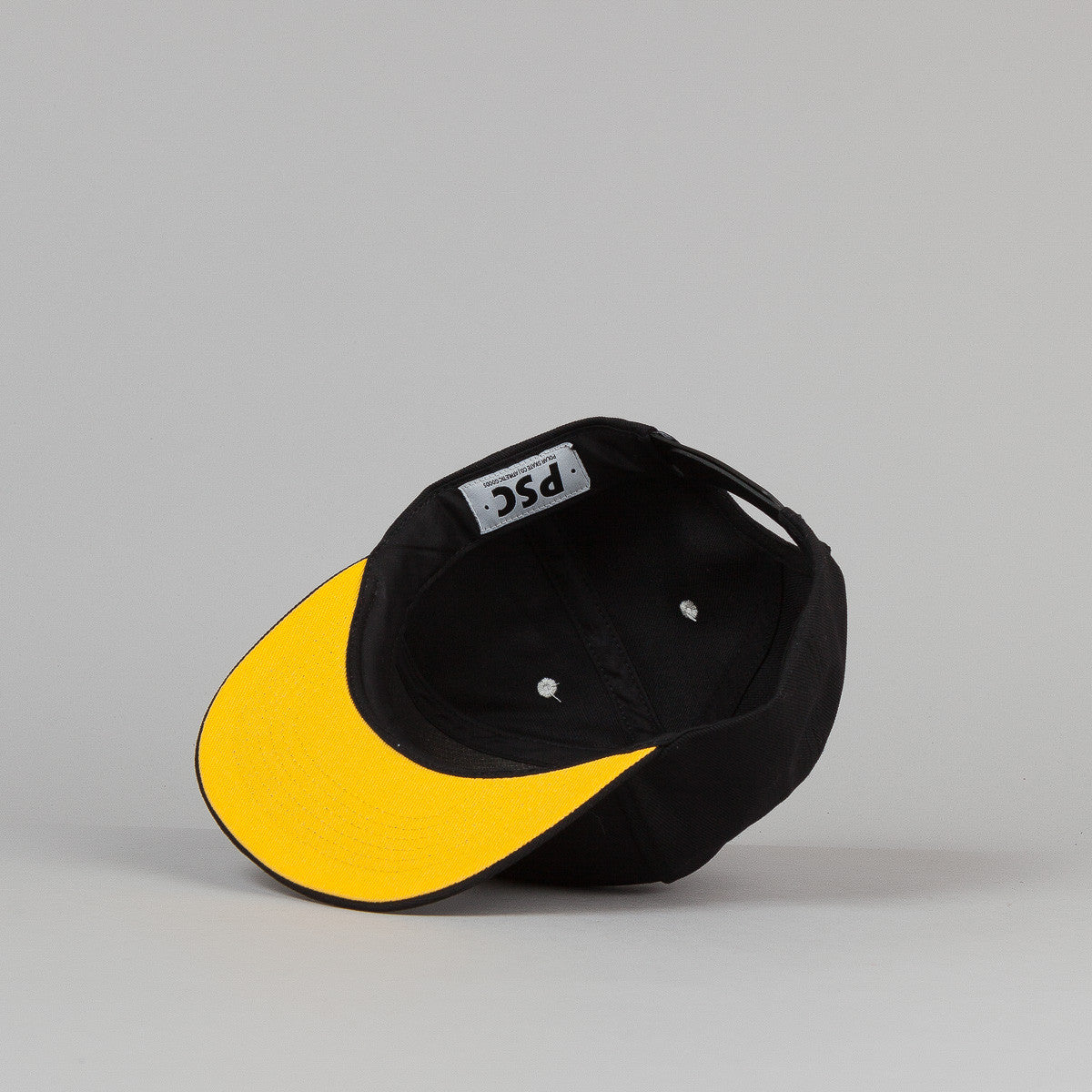 Polar Stroke Logo Snapback Cap - Black / Yellow