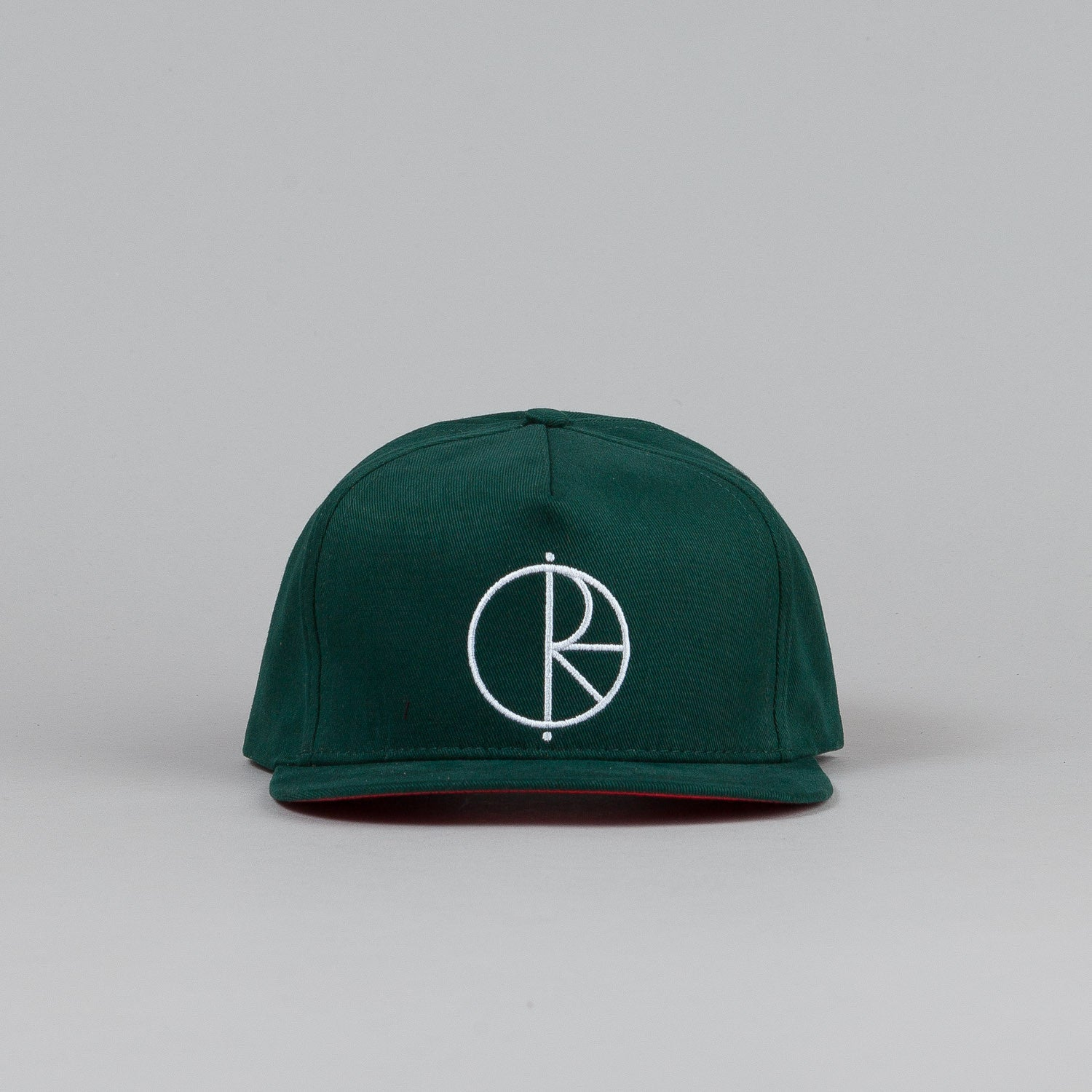 Polar Stroke Logo Snapback Cap Forest Green / Red Satin / White Stroke Logo