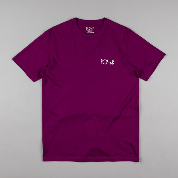 Polar Stroke Logo T-Shirt - Dark Prune