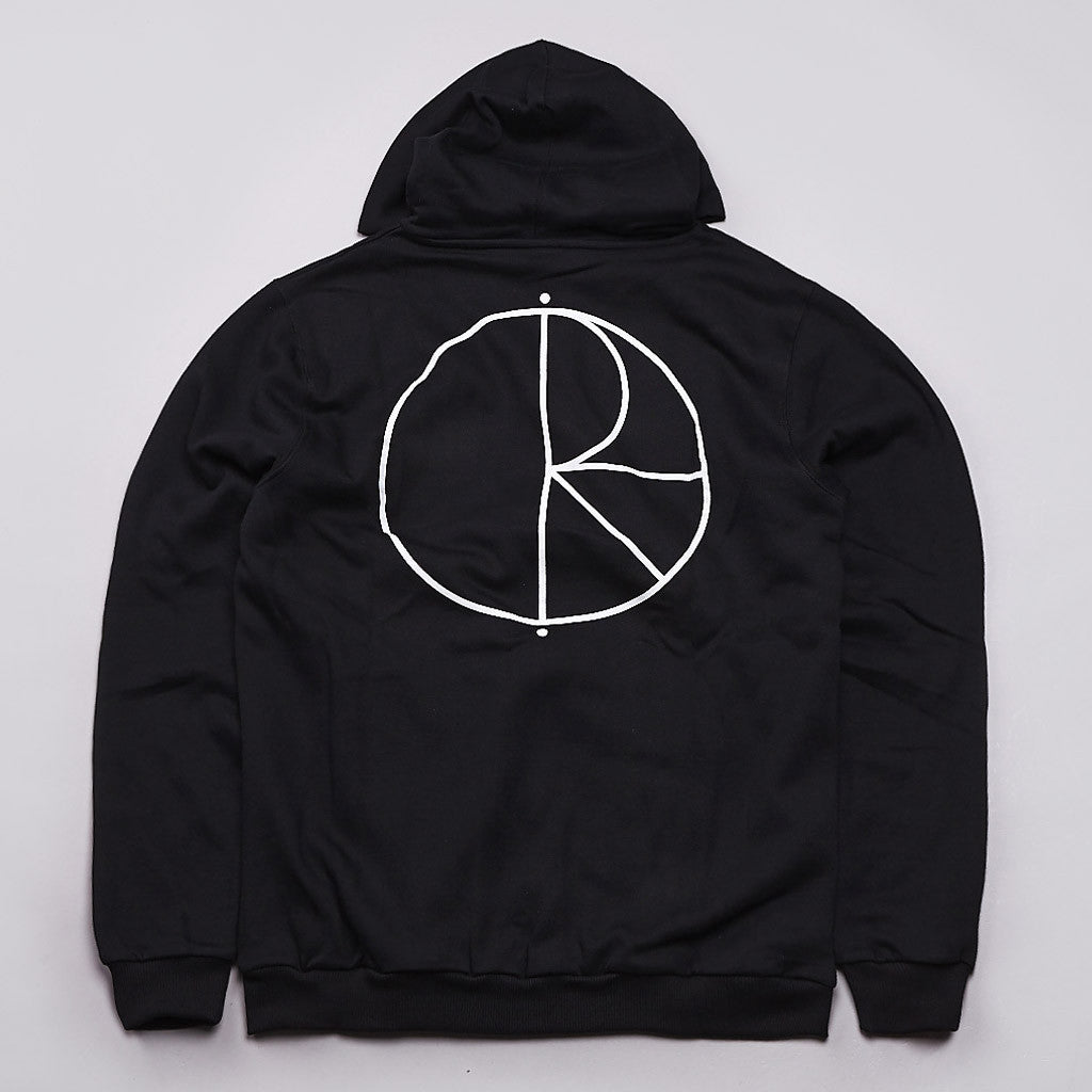 Polar Stroke Logo Thermal Zipped Hooded Sweatshirt Black
