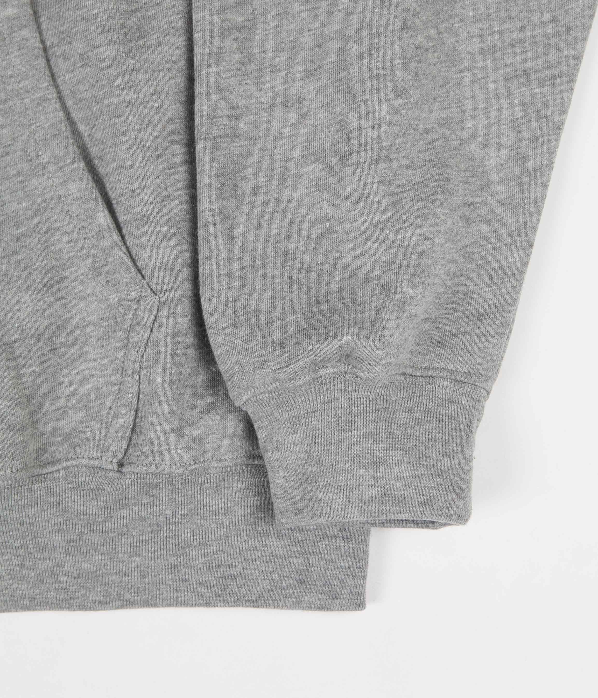 Polar Stroke Logo Zip Hoodie - Heather Grey
