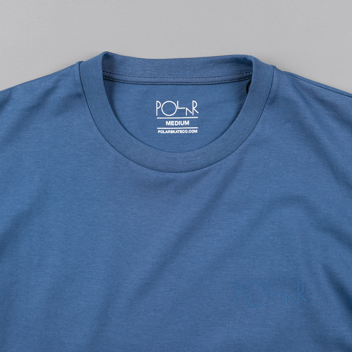 Polar Stroke Logo T-Shirt - Dirty Blue