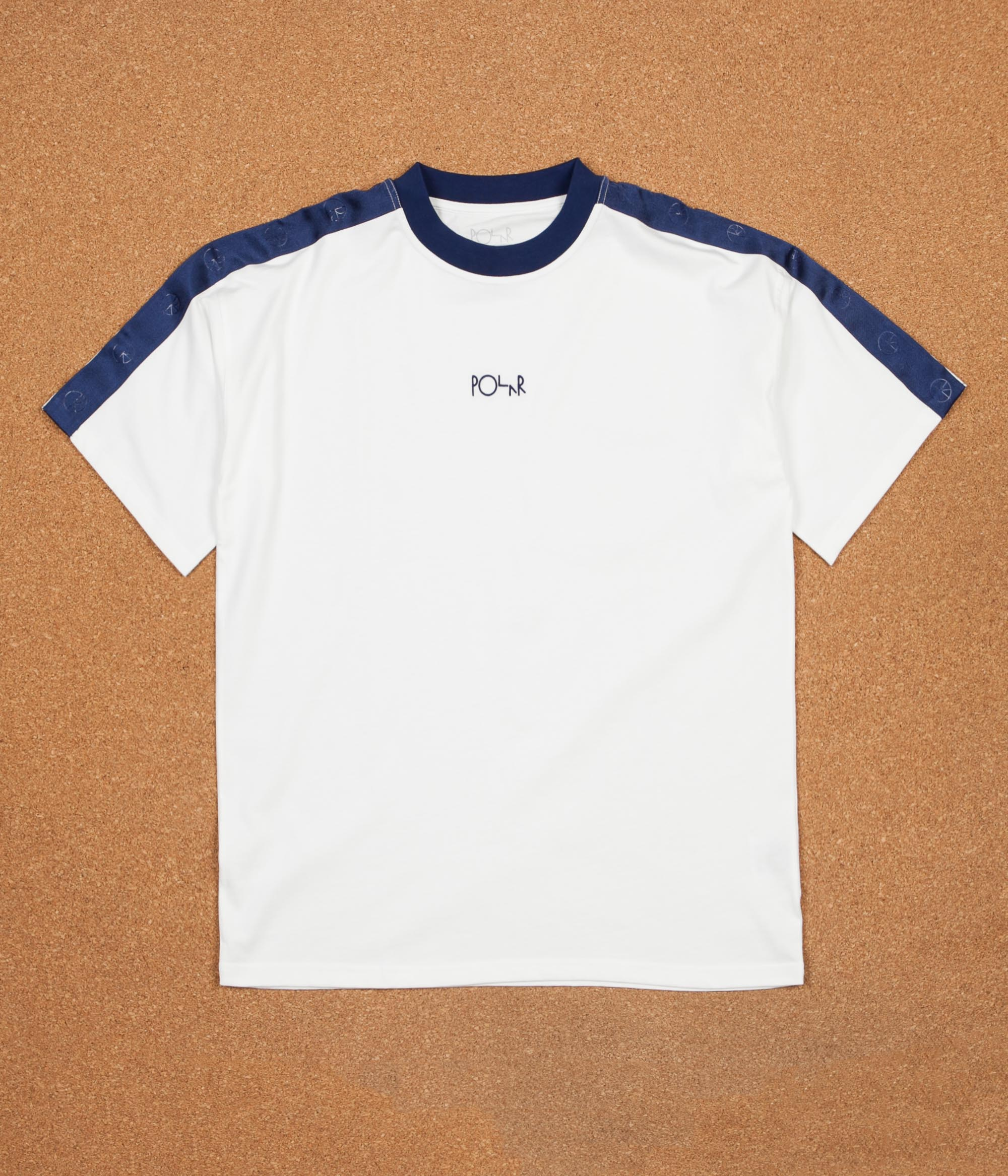 Polar Tape Surf T-Shirt - White / Navy