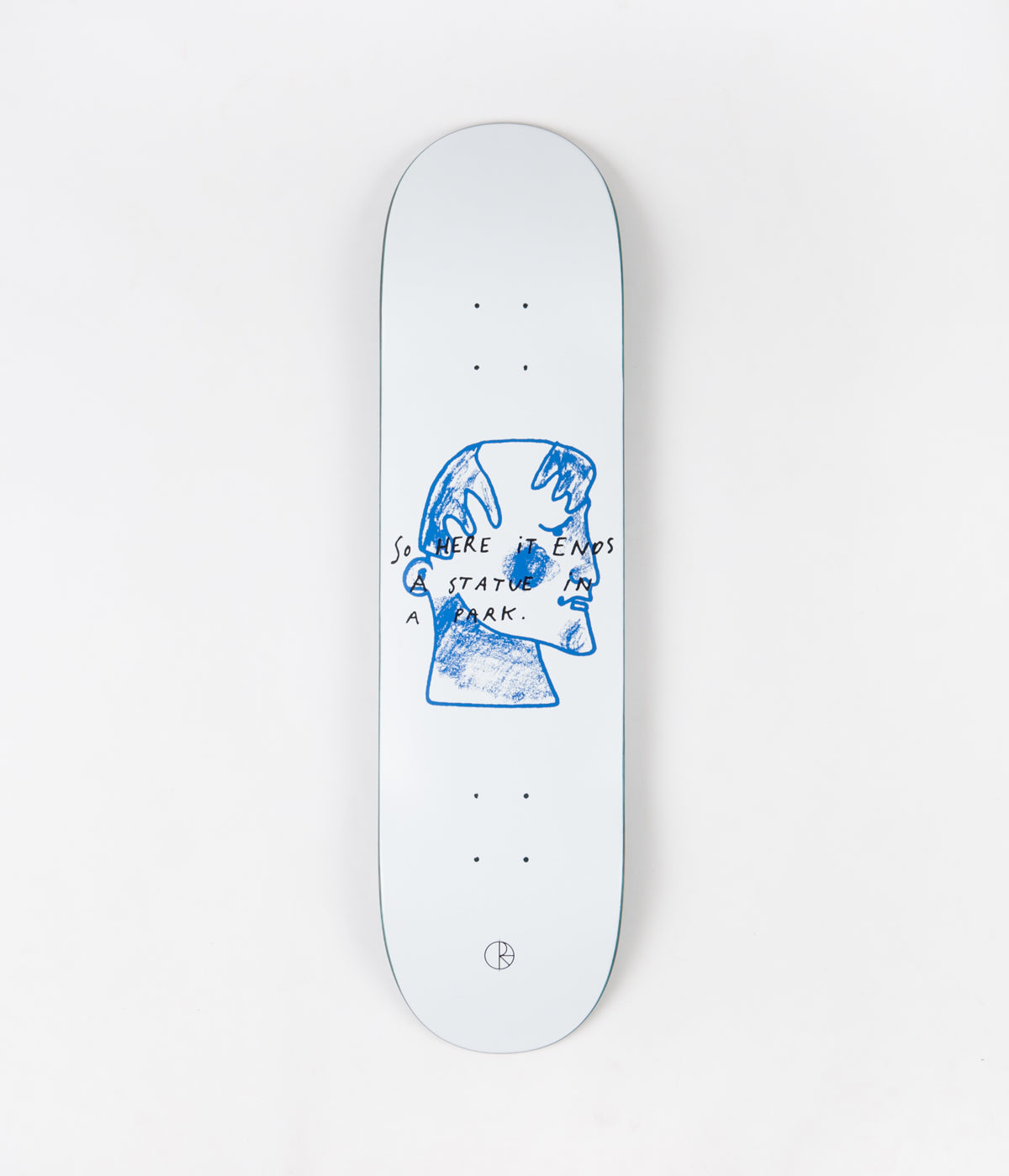 Polar Team I Prefer Marble Deck - White - 8.25""