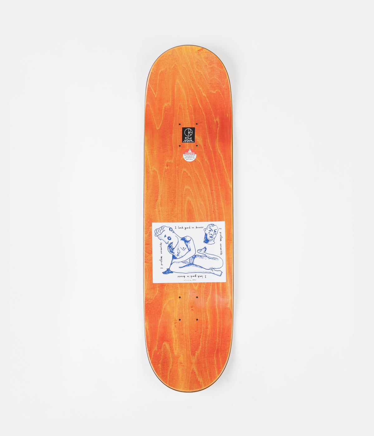 Polar Team I Prefer Marble Deck - White - 8.5""