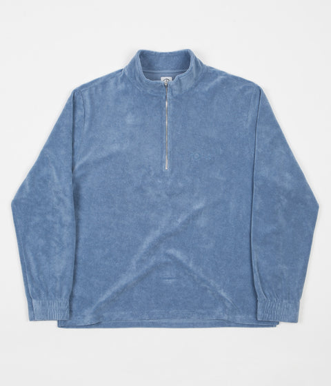 Polar Terry Half Zip Sweatshirt - Dusty Indigo