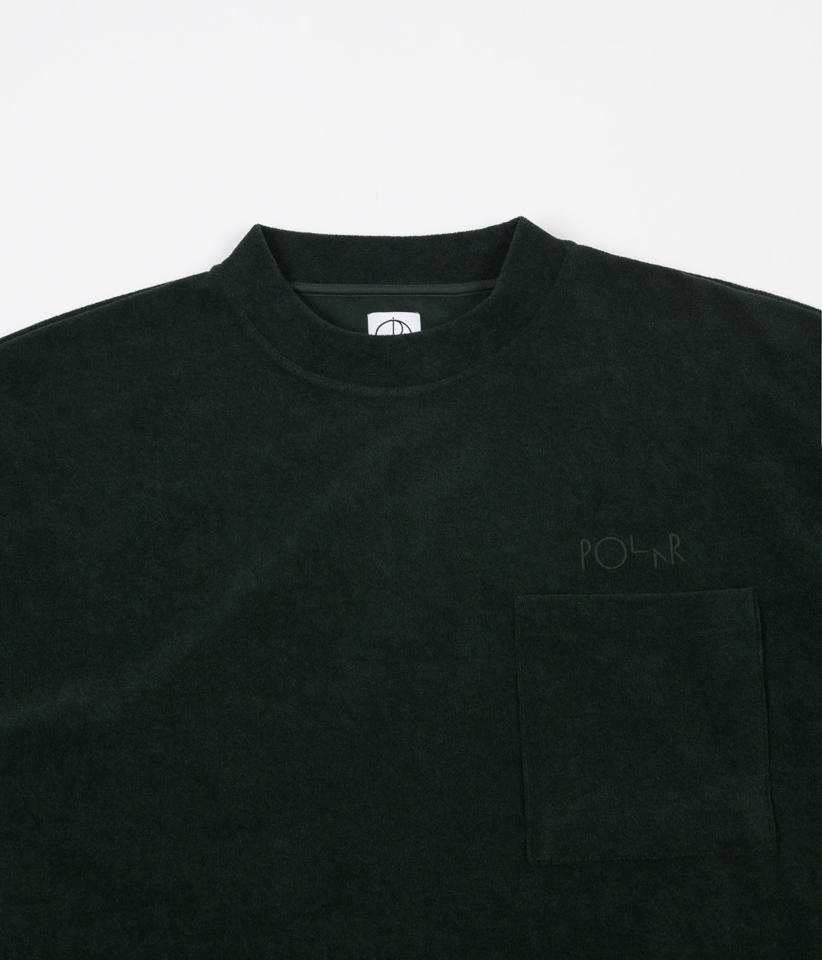 Polar Terry Pullover Long Sleeve T-Shirt - Dark Green