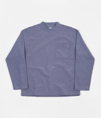 Polar Terry Pullover Long Sleeve T-Shirt - Sky Blue