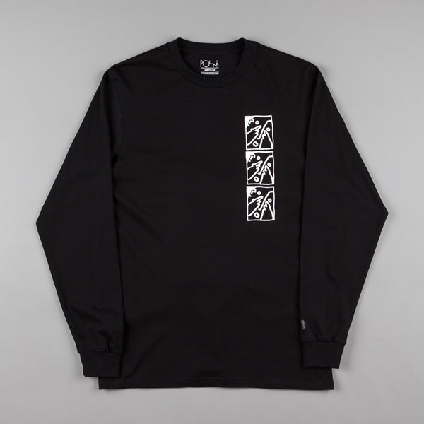 Polar Three Faces Long Sleeve T-Shirt - Black