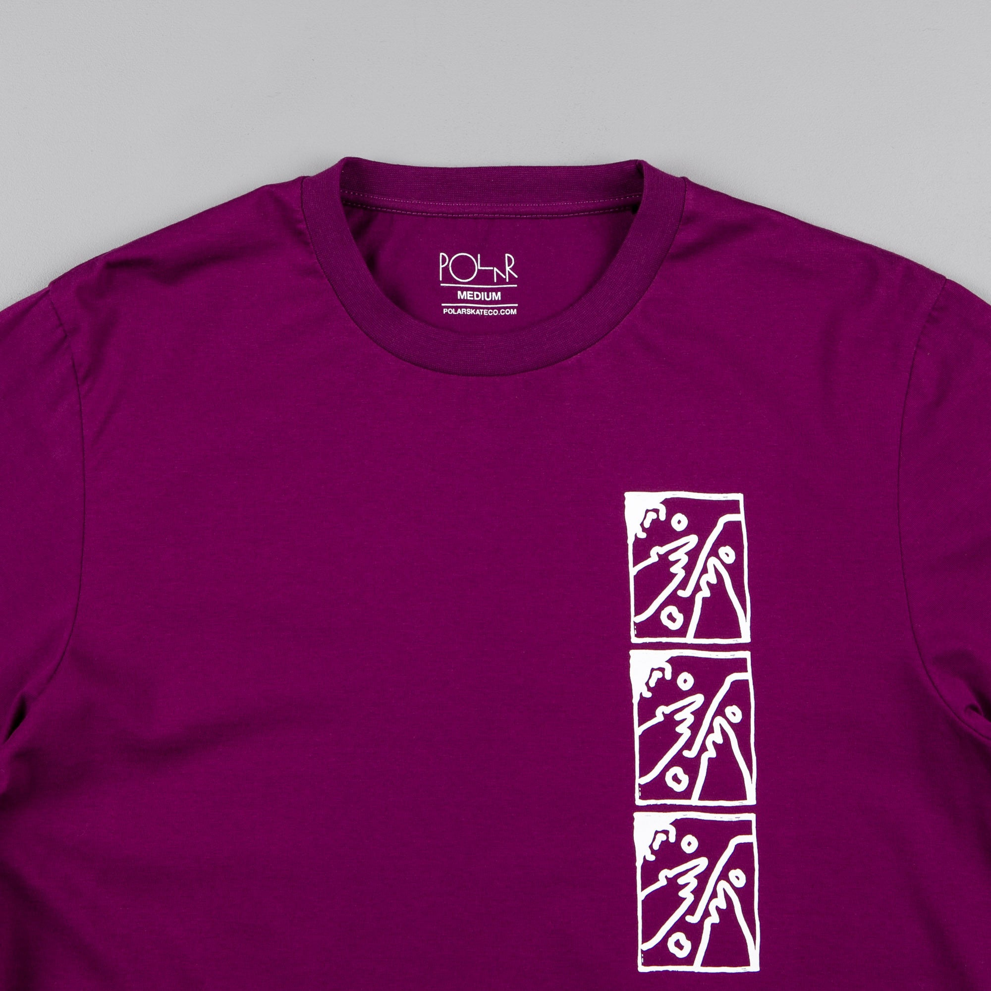 Polar Three Faces Long Sleeve T-Shirt - Dark Prune