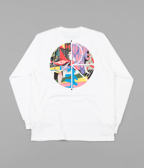 Polar TK Fill Logo Long Sleeve T-Shirt - White