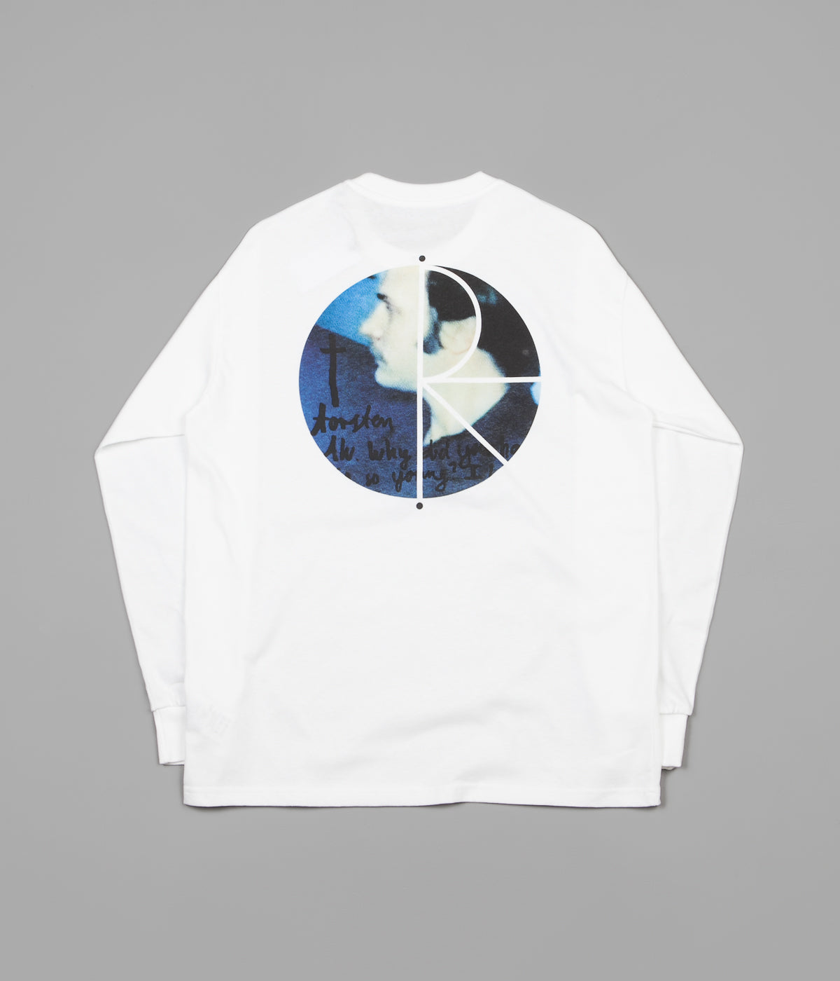 Polar Torsten Fill Logo Long Sleeve T-Shirt - White