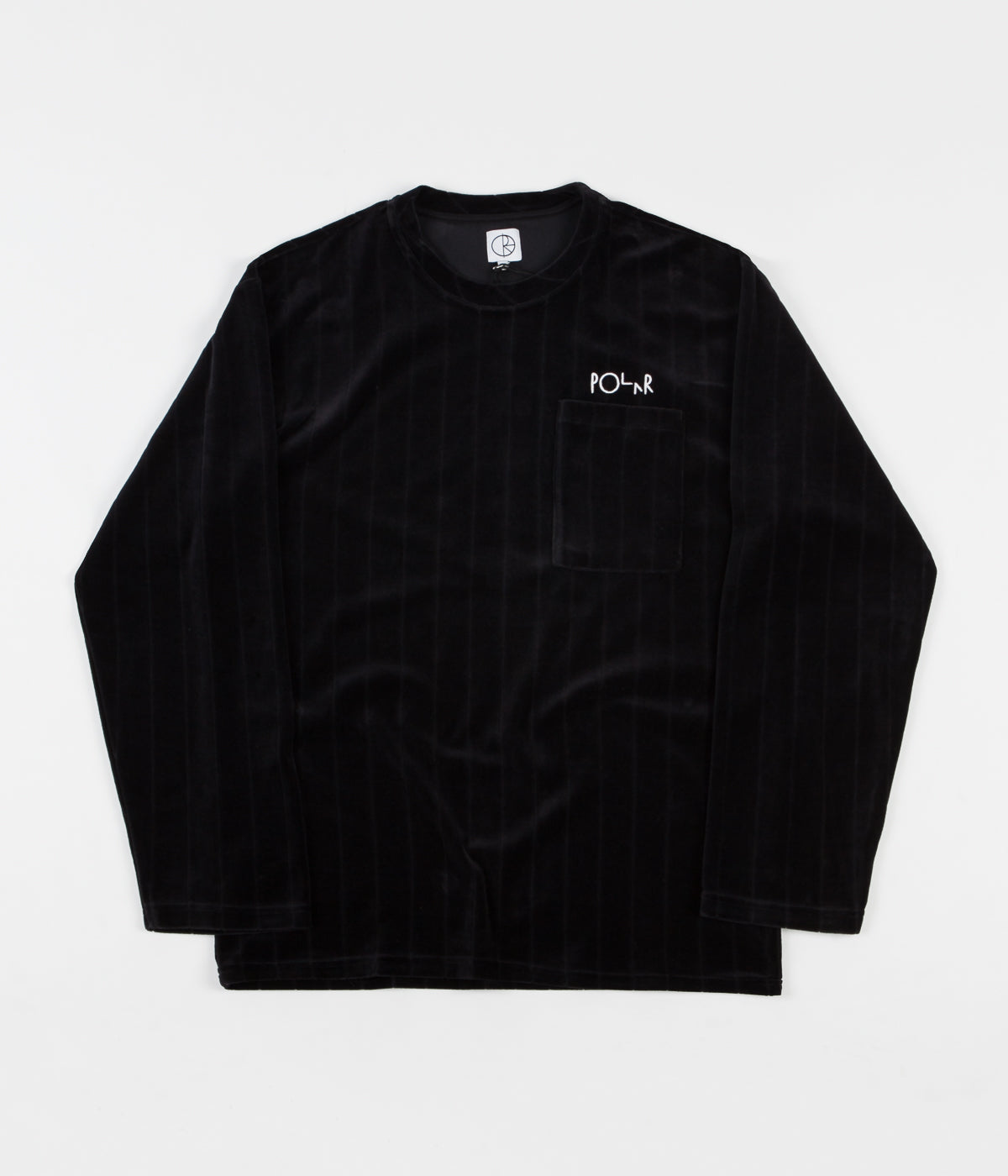 Polar Velour Pullover Sweatshirt - Black