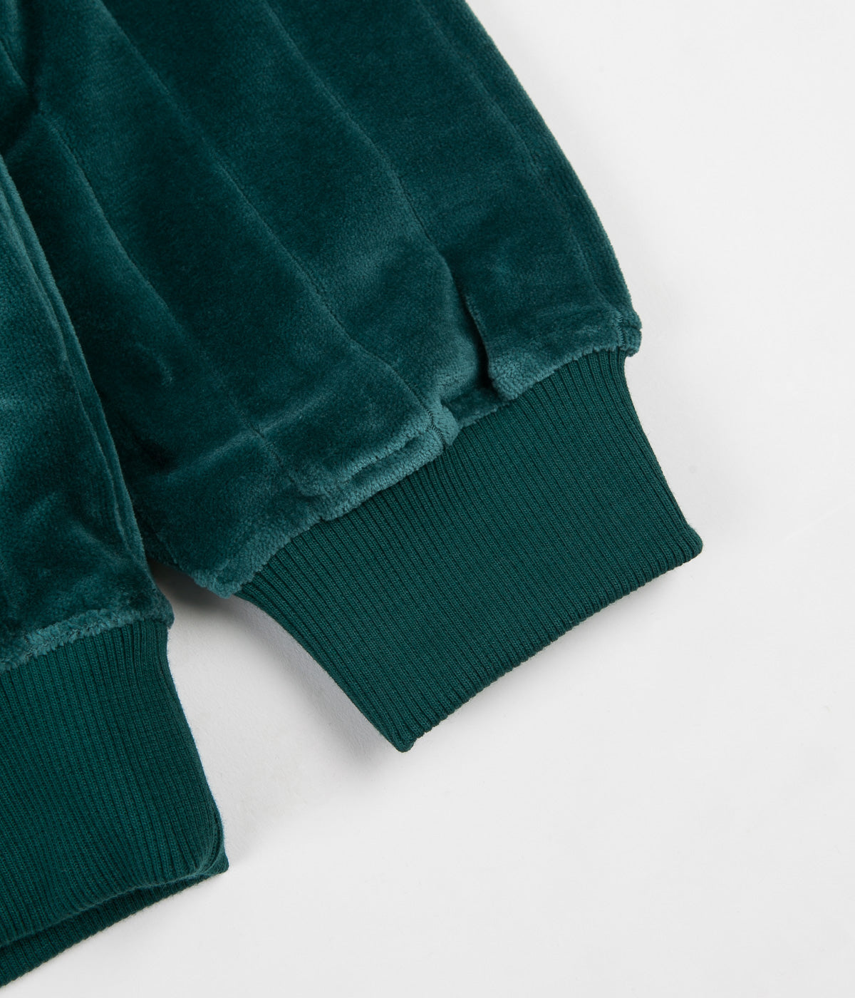 Polar Velour Zip Neck Sweatshirt - Dark Green