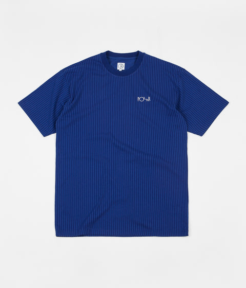 Polar Vertical Stripe T-Shirt - Dark Blue