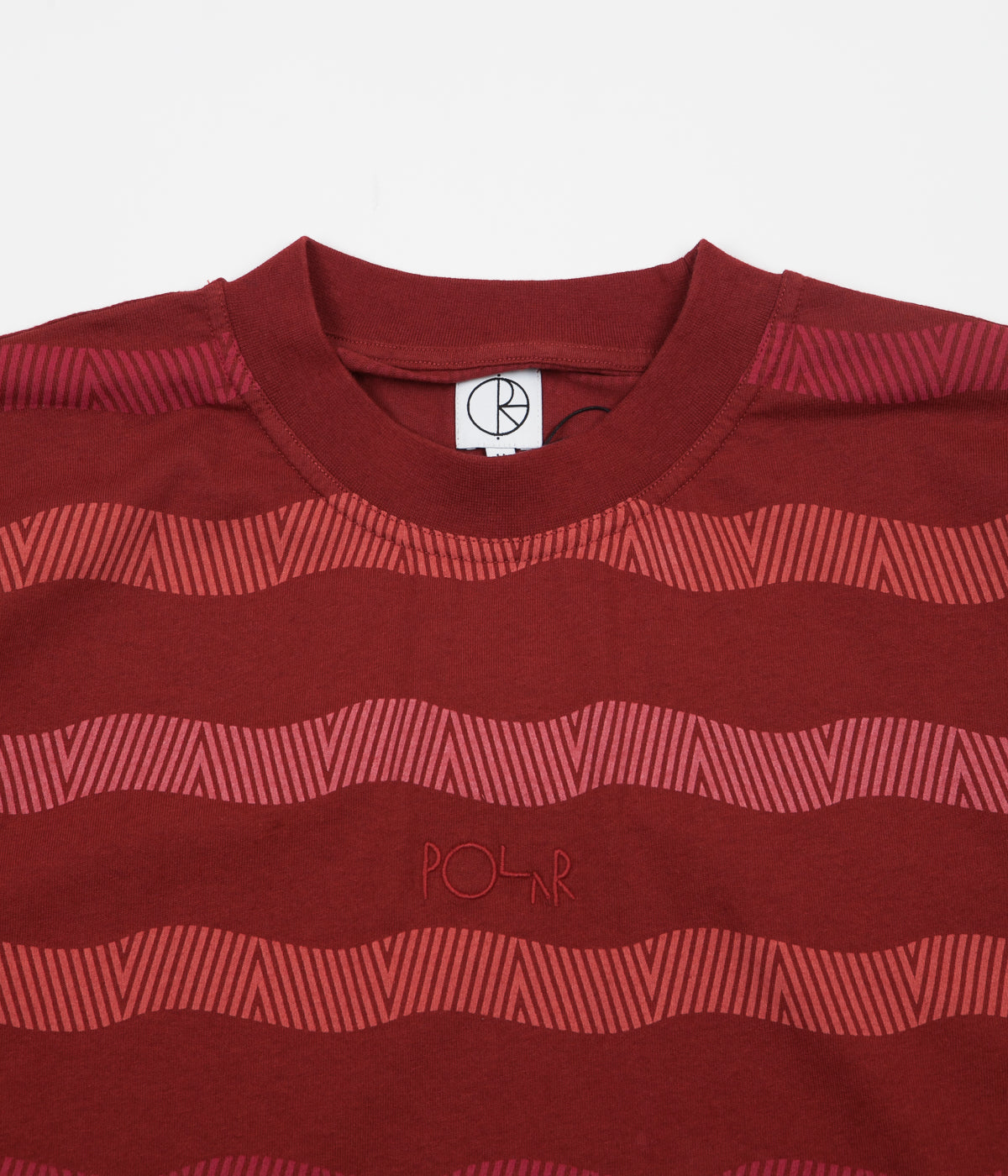Polar Wavy Surf T-Shirt - Brick Red