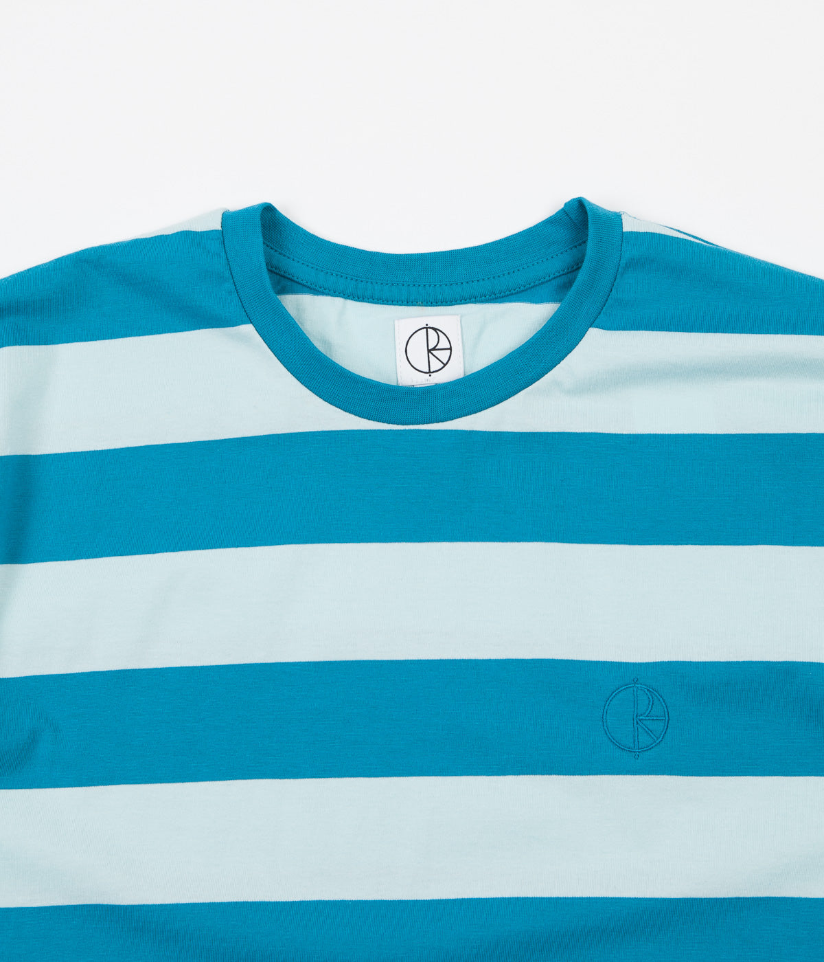 Polar x Ron Chatman Block Stripe T-Shirt - Mint / Teal