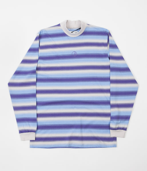Polar X Très Bien Striped Mockneck Long Sleeve T-Shirt - Tropical Disaster