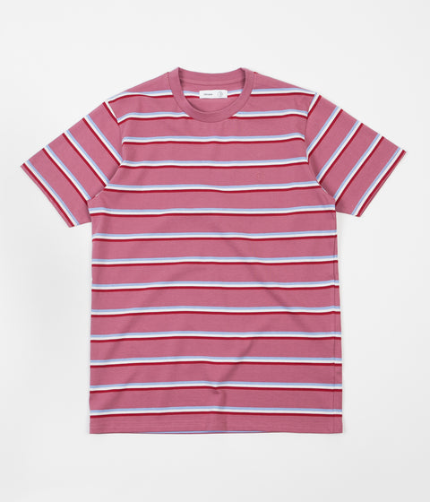 Polar X Très Bien Striped T-Shirt - Dusty Rose