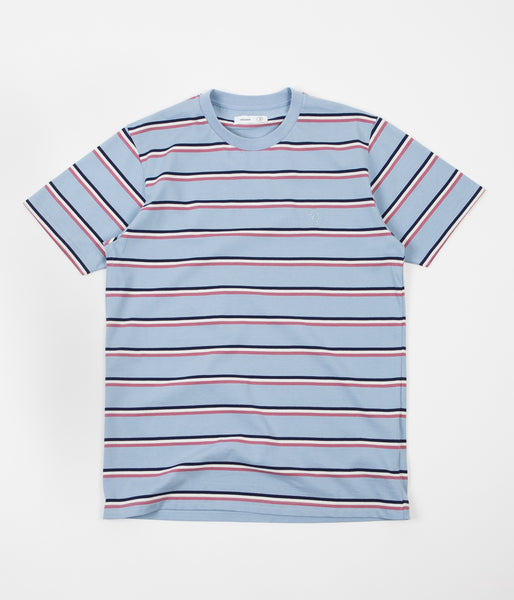 Polar X Très Bien Striped T-Shirt - Powder Blue
