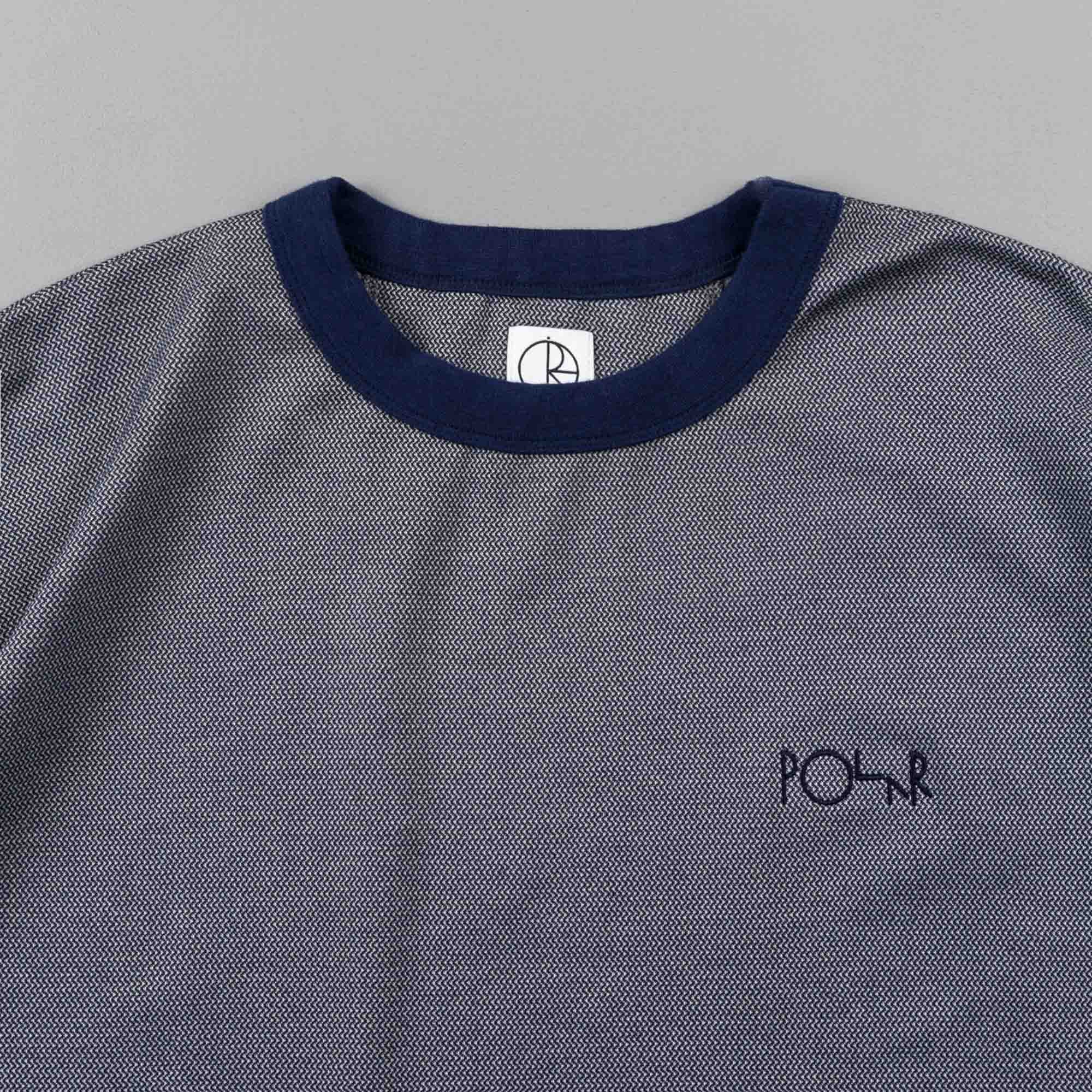 Polar Zig Zag Gym T-Shirt - Navy / Grey