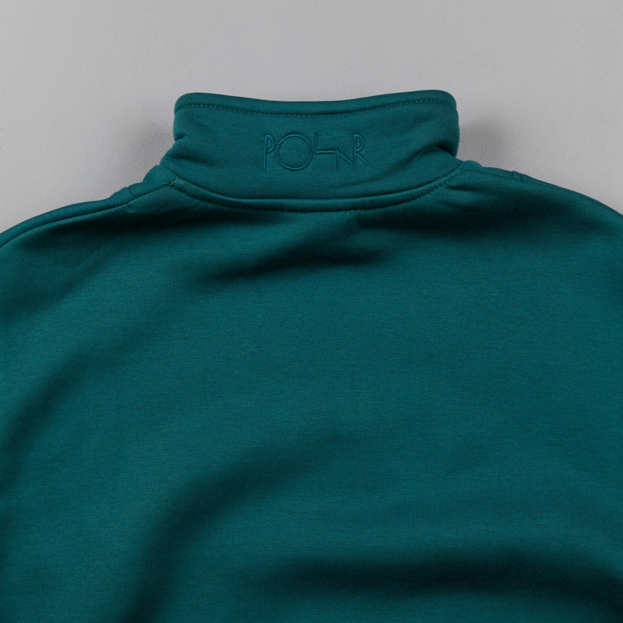 Polar Zip Neck Sweatshirt - Dark Teal