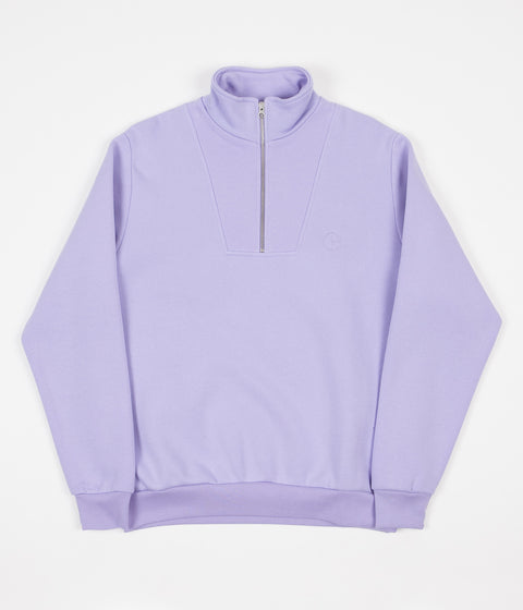 Polar Zip Neck Sweatshirt - Lavender