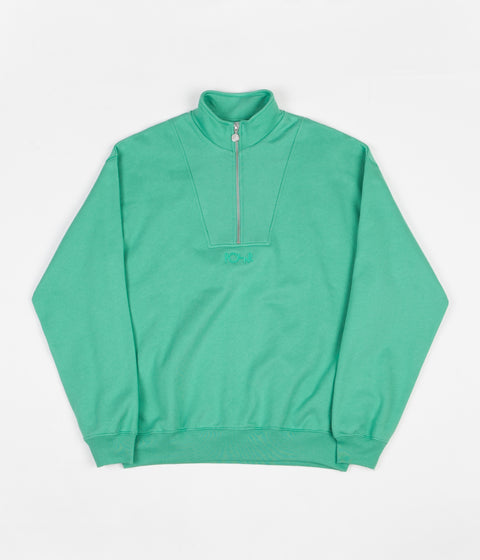 Polar Zip Neck Sweatshirt - Peppermint