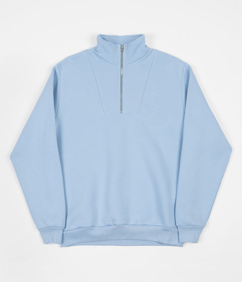Polar Zip Neck Sweatshirt - Powder Blue