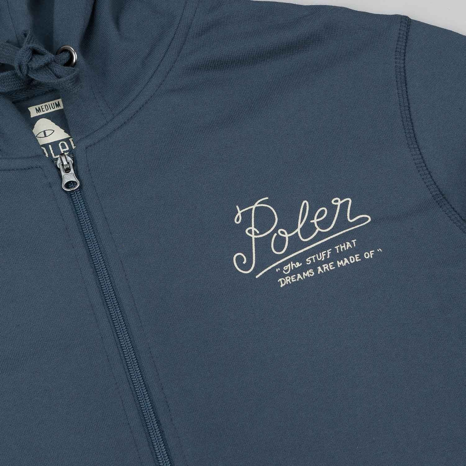 Poler Dreams / Venn Zip Hooded Sweatshirt - Indigo