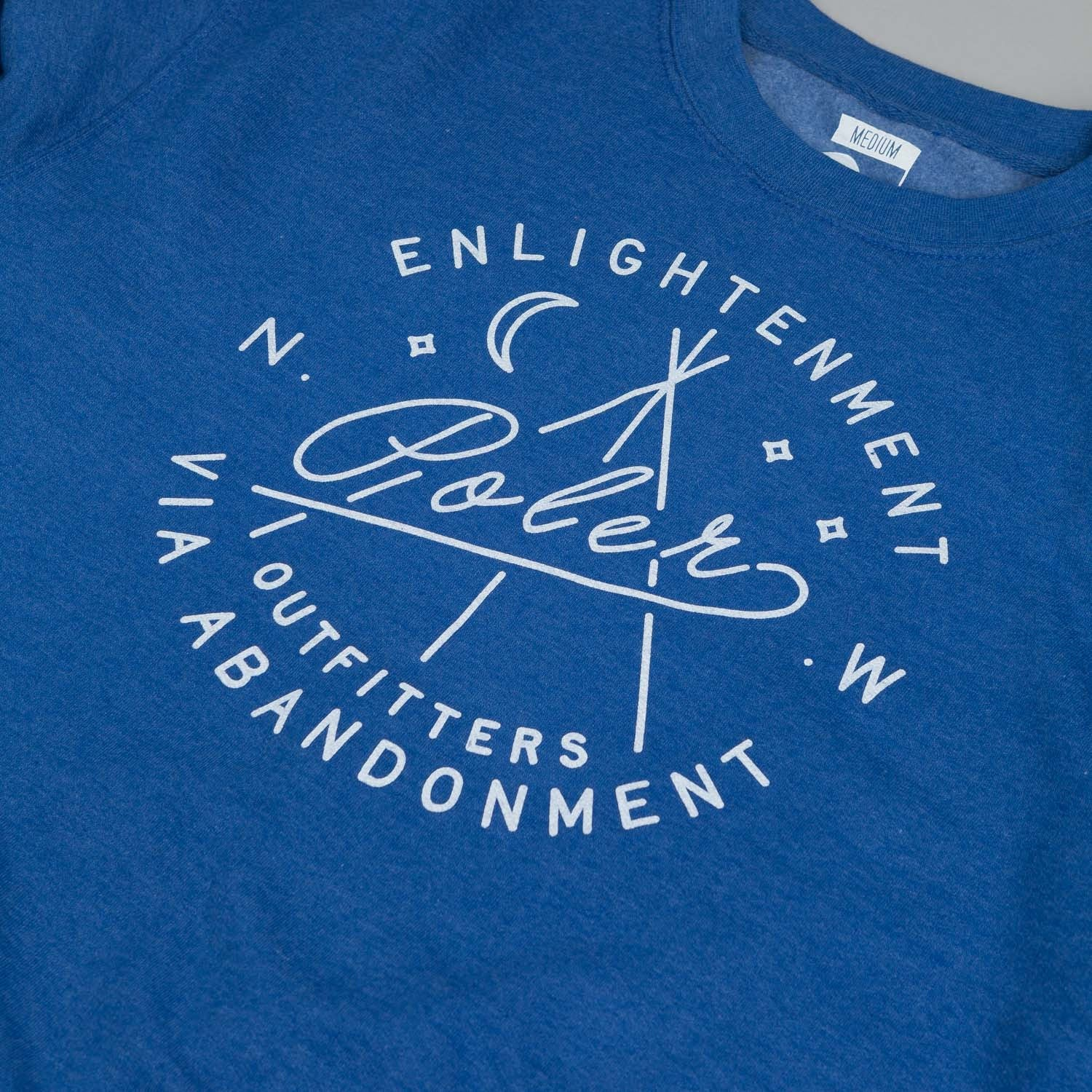 Poler Enlightenment Crew Sweater Royal Heather