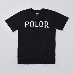Poler Furry Font T Shirt Black / White