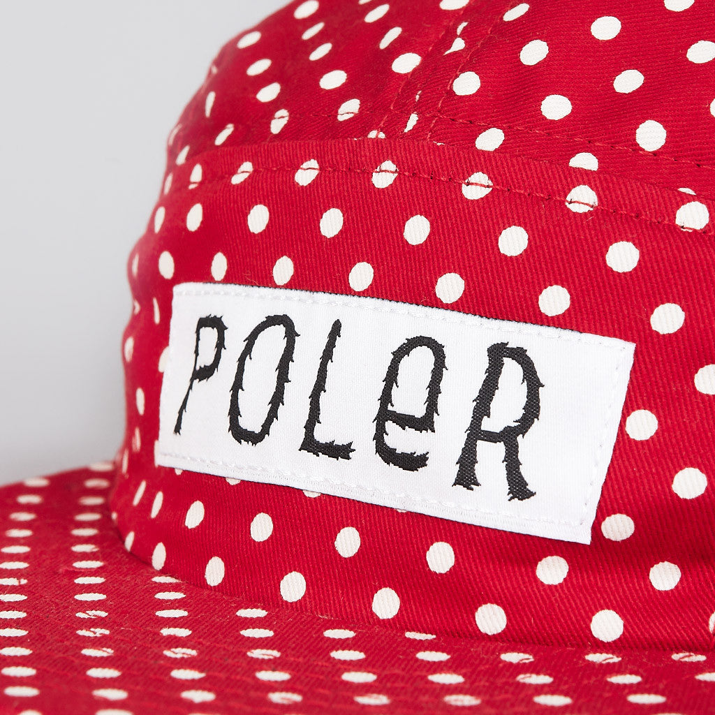 Poler Furry Font 5 Panel Camp Cap Red Dot
