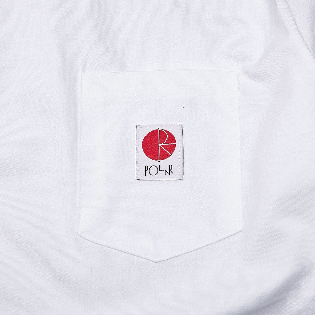 Polar Long Sleeve Pocket T Shirt White